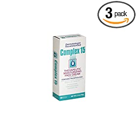 Complex 15 Therapeutic Moisturizing Face Cream – 2.5 oz (Pack of 3)