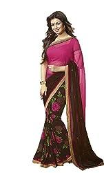 sareez Half Georgette Saree Sold by Geet Fashion Solution