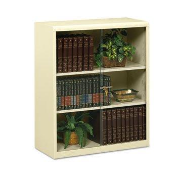 TNN342GLPY - Tennsco Heavy-guage Steel Bookcase With Glass Doors