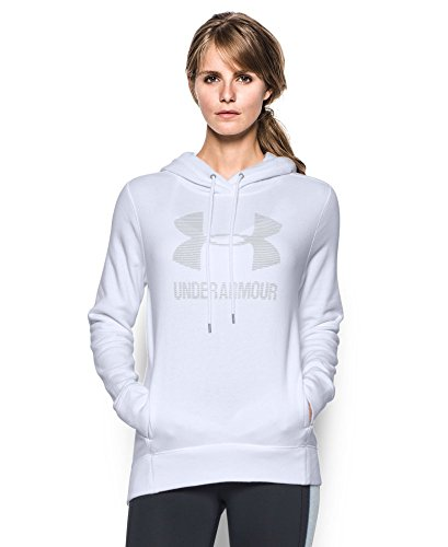 Under Armour Women's Sportstyle Favorite Fleece Hoodie, White (100), X-Small
