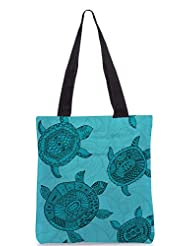 Snoogg Seamless Pattern With Turtles Seamless Pattern Can Be Used For Wallpaper Designer Poly Canvas Tote Bag
