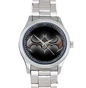 Batman Logo Stainless Steel Watch for a Gift