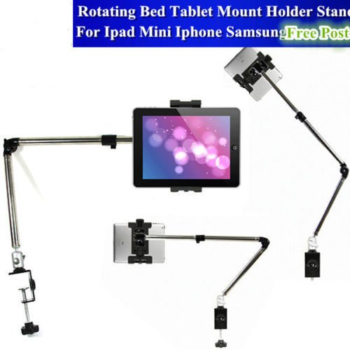 Zjchao(Tm) Rotating Bed Tablet Mount Holder Stand For Ipad Mini Iphone Samsung Galaxy Table front-277469