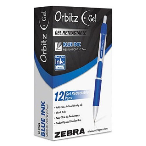 zebra-orbitz-retractable-gel-pen-blue-ink-medium-dozen