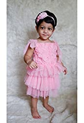 Dchica Pink and Laces Frock Dress for Baby Girls (Limited Stock Offer Buy any of the Clothes Of D'chica and get a
