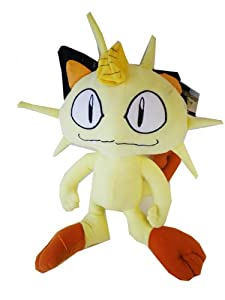 Meowth Plush Toy - Pokemon Stuffed Animal (14 Inch)