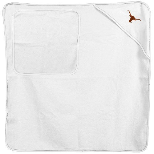 NCAA Texas Longhorns Infant White Logo Hooded Towel & Washcloth Set at Amazon.com