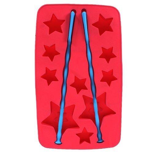 SMO Lucky Star Cube de la Glace Bar Moules Avec deux Agitateurs Geler Mold