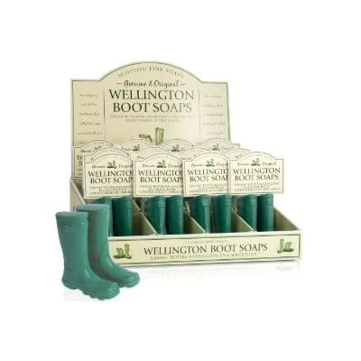 Scottish Fine Soaps The Novelty Collection Wellington Boot Soaps 150g