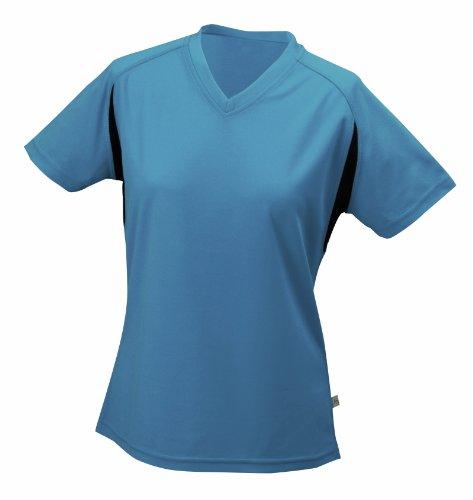 James & Nicholson Women's Running T-shirt - Blue, XXL