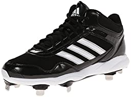 adidas Performance Men\'s Excelsior Pro Metal Mid Baseball Cleat, Core Black/Running White/Metallic Silver, 12 M US