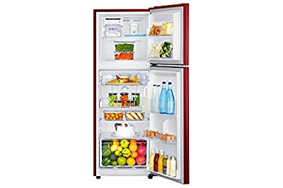 Samsung RT27JARZERY Frost-free Double-door Refrigerator (253 Ltrs, 4 Star Rating, Sanganeri Ring Red)