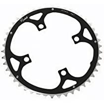 Rocket Alloy Ramped Chainring 104mm 4 Bolt 46T Black/Silver