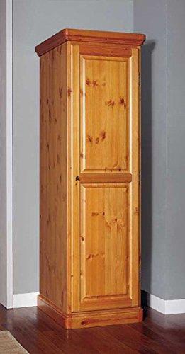 Armario 1 puerta de madera pino macizo - color miel