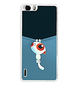 Cute Cartoon 2D Hard Polycarbonate Designer Back Case Cover for Huawei Honor 6