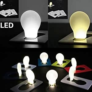 Novel Pocket LED Card Light Fold-up Bulb Shape Wallet / Purse Night Lamp - RANDOM COLOR
