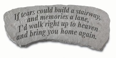 Decorative Bench - If tears could build... Great Thoughts Garden Accents Graveside Memorial Plaques Grave Ornament with Engraving