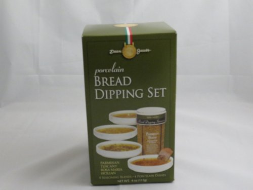 Bread Dipping Set with Porcelain Dishes