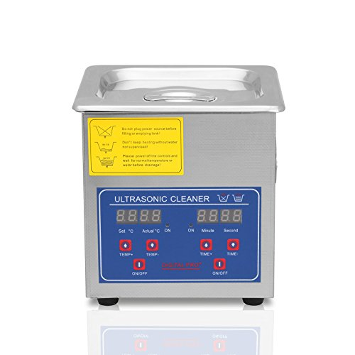 Lartuer Ultraschallreiniger Ultraschallreinigungsgerät Ultrasonic Cleaner 1.3L für Schmuck Brillen Reinigung with Digital Timer Heated Heater (1.3L)