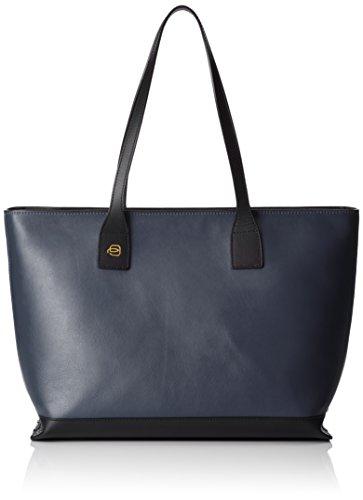Piquadro Shopping Bag Collezione Antilias Borsa a spalla, Pelle, blu, 36 cm