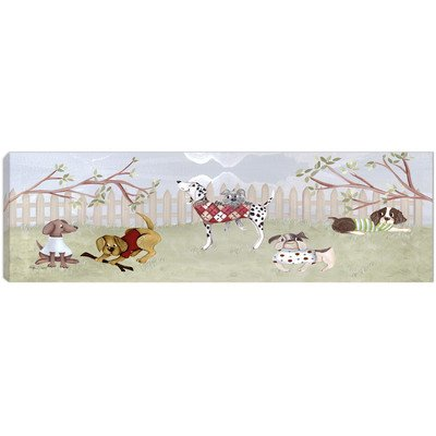 Doodlefish DB1120s Dog Park Artwork, Stretched Canvas