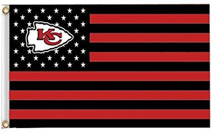 Kansas City Chiefs NFL Stars & Stripes Banner Flag 3' x 5' - GO CHIEFS!! (Coupon Spirit Halloween)