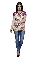 Vastrasutra Casual, Formal, Festive Short Sleeve Floral Print Women's Top