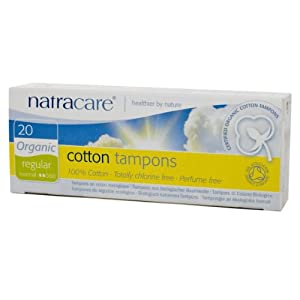 Natracare Organic All Cotton Tampons, Non-Applicator, Regular,  20 Count Boxes (Pack of 12)