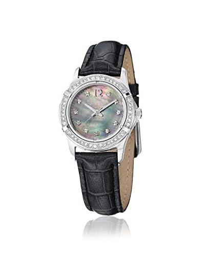Stuhrling Women's 703.02 Farina Symphony Black Leather Watch