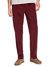 Winter Weight Pure Cotton Flat Front Corduroy Trousers