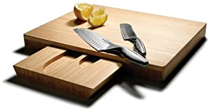 Pinzon Santoku Knives and Bamboo Cutting Board Set