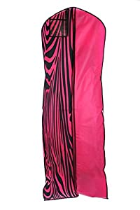 Bags for LessTM Breathable Wedding Gown Garment Bag Hot Pink /Zebra Print