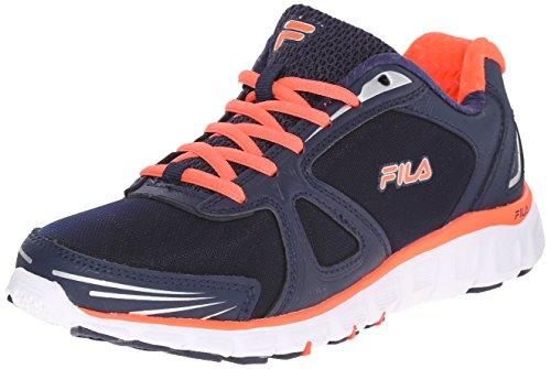 Fila Women's Memory Solidarity-W Running Shoe, Fila Navy/Fiery Coral/White, 11 M US