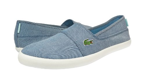 Lacoste Womens Canvas Shoes Marice CAM Slip On LT.Blue Sneakers 6 B(M) US