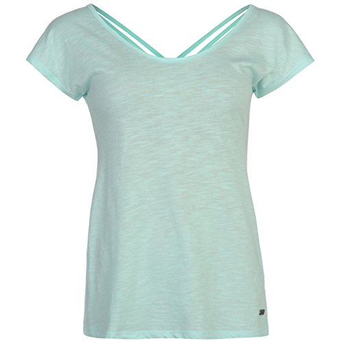 Lee Cooper Donna X Back Tee T-Shirt da donna a maniche corte Top Mode Mode Blu 1 X-Large