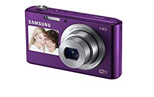 """Samsung DV150F 16.2MP Smart WiFi  Digital Camera with 5x Optical Zoom and 2.7"""" front and 1.5"""" rear Dual LCD Screens (Purple) (OLD MODEL)"""