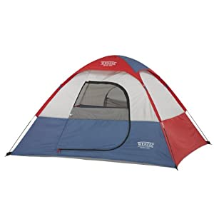 Wenzel Children's Sprout Two-Person Dome Tent, Red/Blue/White, 6 x 5-Feet