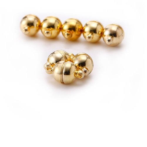10X Golden Strong Magnetic Clasp For Bracelet Necklace Jewellery Findings Making