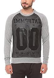 Shuffle Men's Poly Cotton Sweatshirt (8907423024168_2021518201_Small_Black)