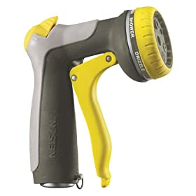 Nelson Front Trigger Multi-Pattern Spray Nozzle with Flow Control 50116