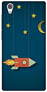 The Racoon Grip printed designer hard back mobile phone case cover for Vivo Y51. (space cowb)