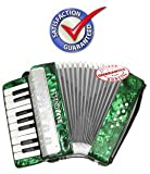 D'Luca G104-GR Kids Piano Accordion 17 Keys 8 Bass, Green