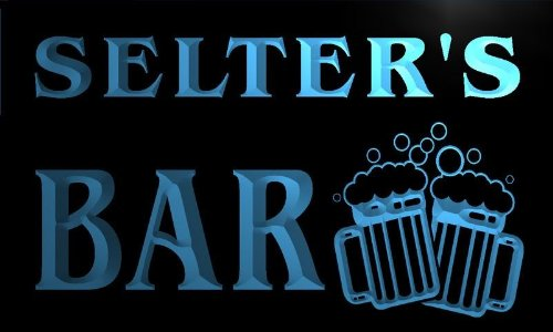 w074909-b-selters-name-home-bar-pub-beer-mugs-cheers-neon-light-sign