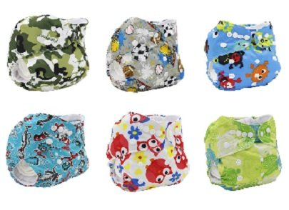 Mommy Knows Best 6 Pack Bamboo Cloth Diapers with Insert (Boy Prints) (Boy Prints)