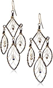 Misha Two-Tone Wire Wrap Dream Catcher Earrings