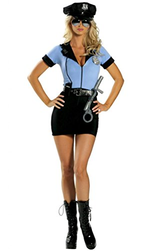 Sexy Police Girl Mini Dress Halloween Costume