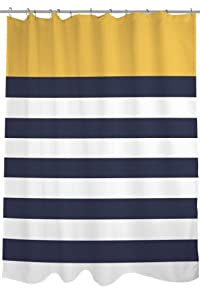 Bentin home decor nautical stripes shower curtain by obc standard 71