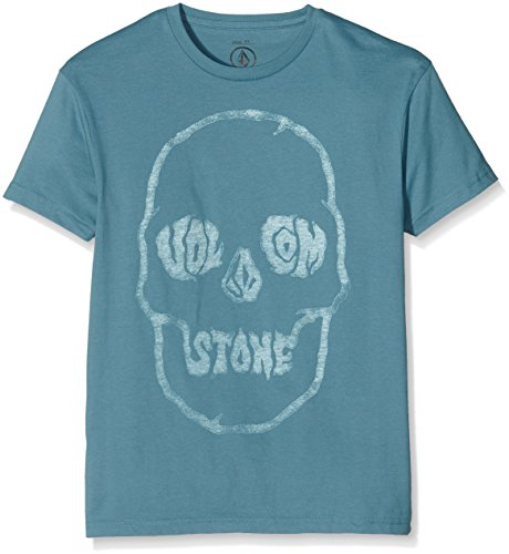 Volcom tuffs Kull Basic maglietta, Ragazzo, Tuffskull Basic T-Shirt, Blu tempesta, L