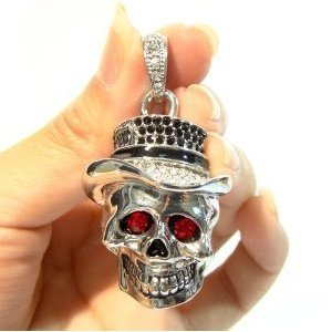 High Quality 8 GB Skull Shape Crystal Jewelry USB Flash Memory Drive Necklace from T &  J