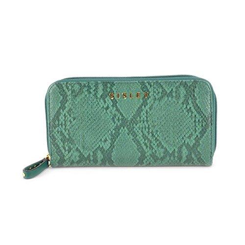 Portafoglio donna Sisley - Linea FABULA - Colore Verde Pitonato